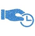 Clock Properties Grainy Texture Icon vector image