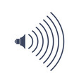 volume music sign audio icon symbol for sound vector image