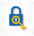 Key as a search icon on lock stock vector image