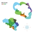 Abstract color map of Belgium vector image