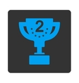 Second prize icon from Award Buttons OverColor Set vector image