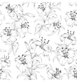 Pattern of lily flowers vector image vector image