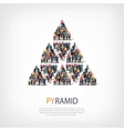 pyramid people sign vector image