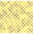 seamless geometric textured golden pattern vector image