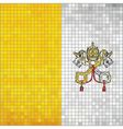 Mosaic flag of Vatican City vector image