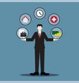 businessman balance life vector image