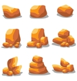 Golden stone set object of vector image
