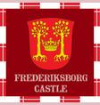 national ensigns of denmark - frederiksborg castle vector image