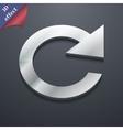 update icon symbol 3D style Trendy modern design vector image