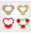 Valentines design elements Floral Hearts vector image