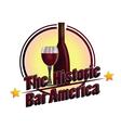 The Historic Bar America vector image