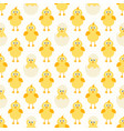 pattern with cute little chickens vector image