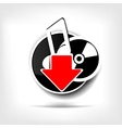 Music web icon vector image