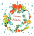 Christmas wreath decorated with balls vector image