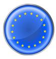 EU flag button vector image