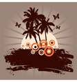 summer background with palms vector image vector image