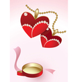 heart pendants vector image