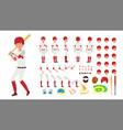 baseball player animated character vector image