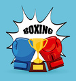 Boxing gloves design vector image