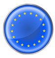 EU flag button vector image