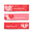happy valentine day red banner vector image