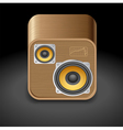 Icon for speakers vector image