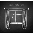 Night window vector image