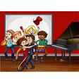 People playing music and dancing vector image