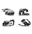 racing cars show vector image