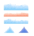 Silhouettes of Mountains vector image