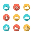 Snowy Mountains Icons Set vector image