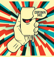 drink in hand vector image