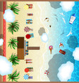 luxury destination for tropical rest summer beach vector image