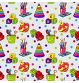 Seamless pattern with colorful childrens toys vector image