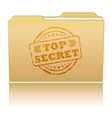 Top secret folder vector image