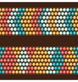 Ethnic african beads abstract color seamless vector image