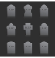 Gravestones with RIP vector image