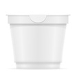 plastic container of yogurt or ice cream 09 vector image