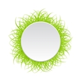 Circle frame with green grass vector image