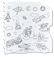 science retro 3d toys vector image