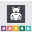 Bear toy icon vector image vector image