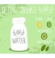 Detox drink vector image vector image