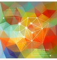 Abstract Retro Geometric Background with place for vector image