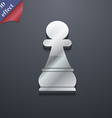 Chess Pawn icon symbol 3D style Trendy modern vector image