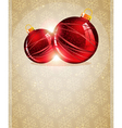 Christmas Tree Ornaments vector image