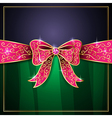 jewel bow card vector image