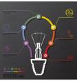 Light Bulb Connection Timeline Business vector image