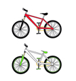 mountain bikes vector image