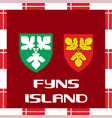 national ensigns of denmark - fyns island vector image