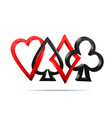 suit of playing cards vector image